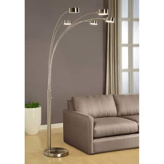 Buy arc floor lamps online at overstock our best lighting deals strick bolton charlie modern arched 88 inch brushed steel 5 light floor lamp aloadofball Image collections