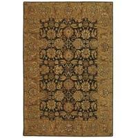 Safavieh Handmade Anatolia Oriental Dark Brown/ Gold Hand-spun Wool Rug - 6' x 9'