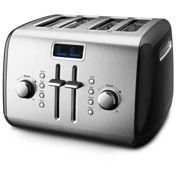 KitchenAid RKMT422OB Onyx Black 4-slice Toaster with LCD Display (Refurbished)