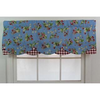 'Strawberry Fields' Blue Petticoat Valance