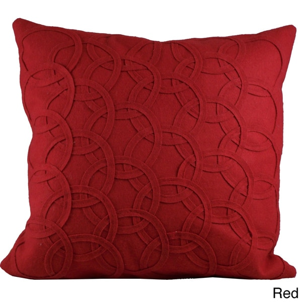 Felt Circles 18-inch Decorative Down Pillow