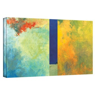 Jan Weiss 'Textured Earth Panel III' Gallery-wrapped Canvas Art