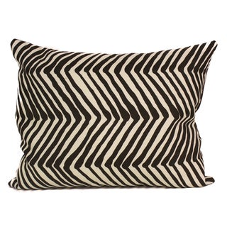 Zebra Print Brown Linen 17 x 14 inch Decorative Pillow