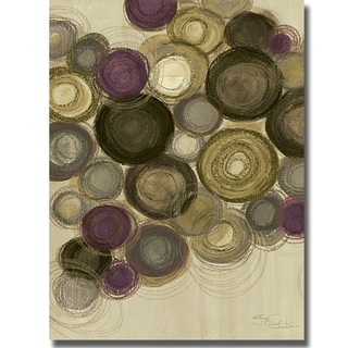 Jeni Lee 'Purple Whimsy II' Canvas Art