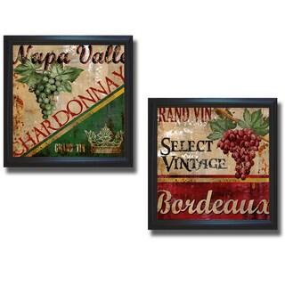 Conrad Knutsen 'Napa Valley and Bordeaux' Framed 2-piece Canvas Set
