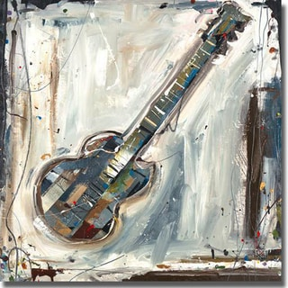 Kelsey Hochstatter 'Imprint Guitar' Canvas Art