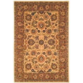 Safavieh Hand-made Classic Ivory/ Red Wool Rug (4' x 6')