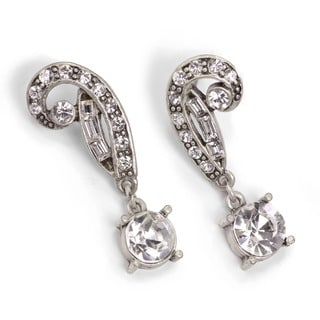 Sweet Romance Art Deco Vintage Hollywood Crystal Earrings
