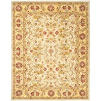 Safavieh Hand-made Classic Grey/ Light Gold Wool Rug - 11' x 15'