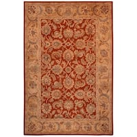 "Safavieh Hand-made Classic Rust/ Camel Wool Rug - 9'6"" x 13'6"""