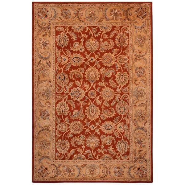Safavieh Hand-made Classic Rust/ Camel Wool Rug - 9'6 x 13'6