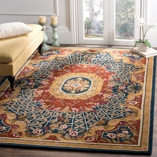 Safavieh Hand-made Classic Multi Wool Rug (7' 6 x 9' 6 )