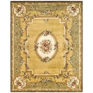 Safavieh Handmade Classic Light Gold/ Green Wool Rug (9'6 x 13'6)