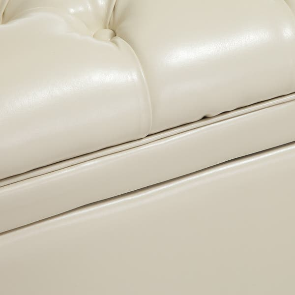 Cool Shop Hastings Tufted Ivory Leather Storage Ottoman By Pdpeps Interior Chair Design Pdpepsorg