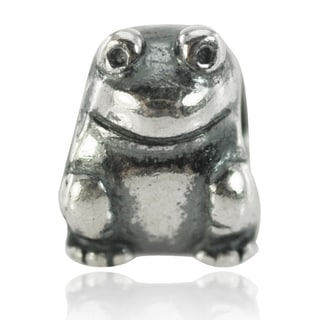 De Buman Sterling Silver Frog Charm Bead