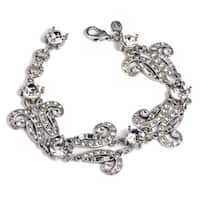 Sweet Romance Art Deco Vintage Marquee Crystal Bracelet