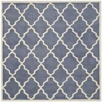 Safavieh Handmade Moroccan Chatham Grey Wool Rug - 5' Square