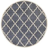 Safavieh Handmade Moroccan Chatham Grey Wool Rug - 5' Round