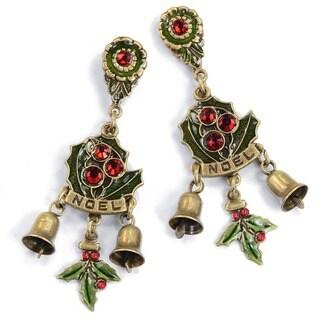 Sweet Romance Vintage Christmas Noel Charm Earrings