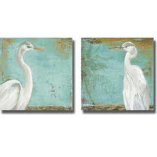 Patricia Pinto 'Tropic Heron I and II' 2-piece Canvas Art Set