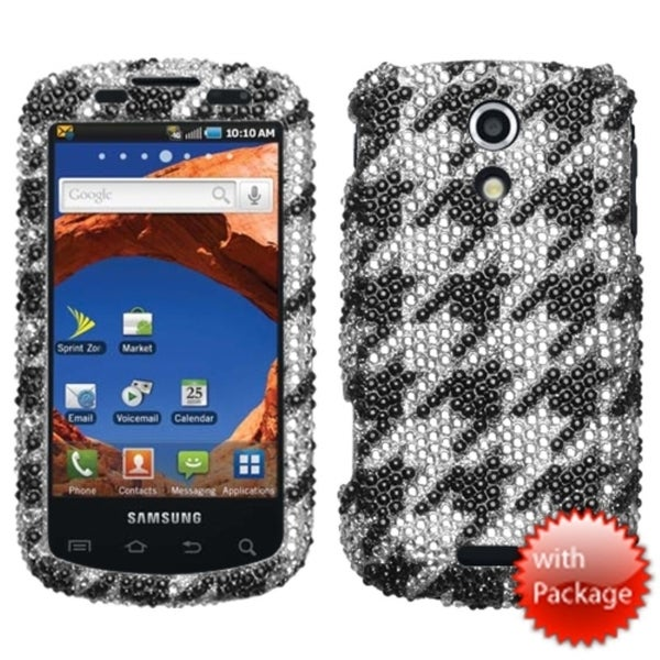 INSTEN Houndstooth Premium Diamante Phone Case Cover for Samsung D700 Epic 4G