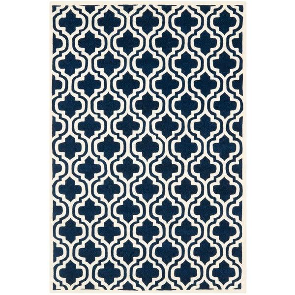 Safavieh Handmade Moroccan Chatham Trellis Pattern Dark