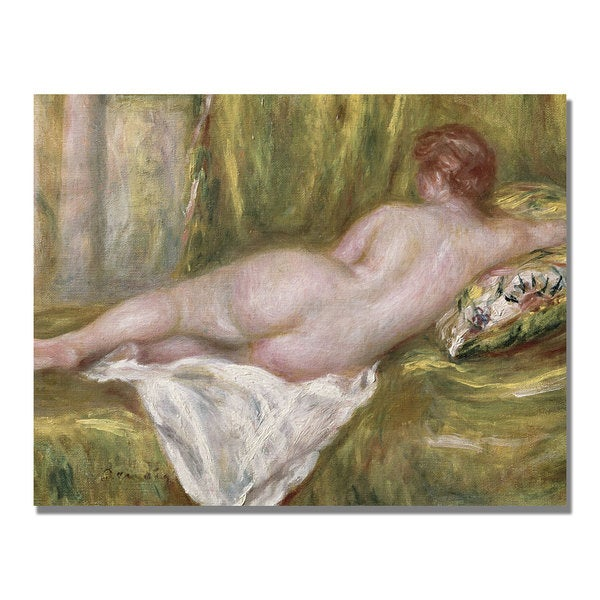 Pierre Renoir 'Reclining Nude from the Back' Canvas Art