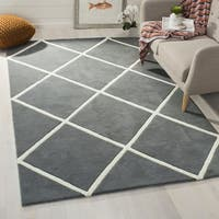 Safavieh Handmade Moroccan Chatham Dark Grey/ Ivory Wool Area Rug - 2'3 x 9'