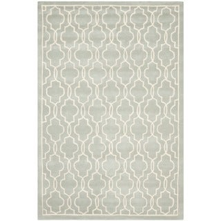 Contemporary Safavieh Handmade Moroccan Chatham Gray/ Ivory Wool Rug (5' x 8')