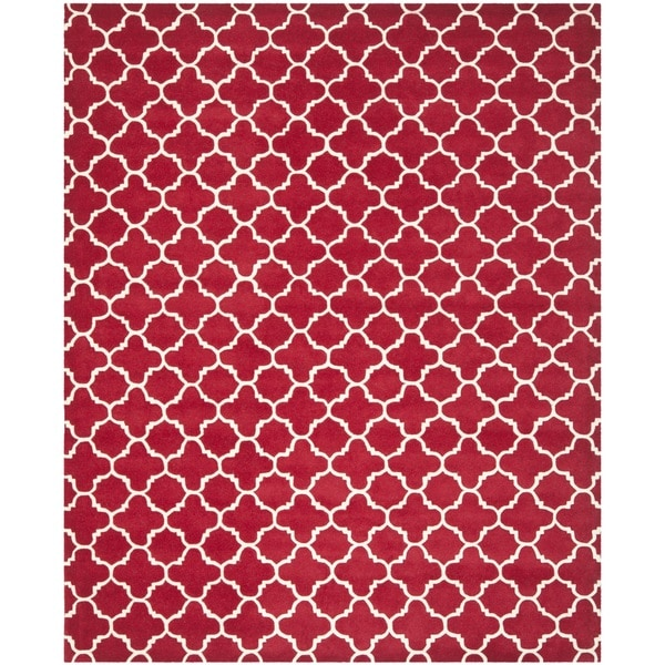 Safavieh Handmade Moroccan Chatham Red/ Ivory Wool Rug - 10' x 14'