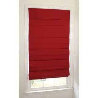 Room-darkening Cordless Red Roman Window Shade