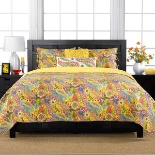 Colonial Floral Paisley 3-piece Quilt Set