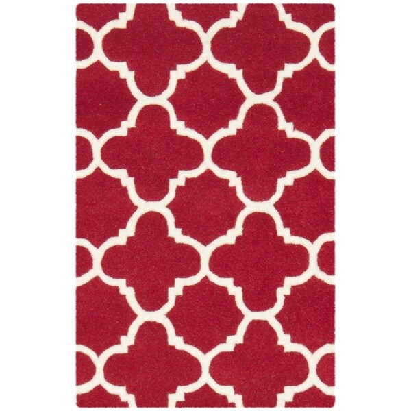 Safavieh Handmade Moroccan Chatham Red/ Ivory Wool Rug (3
