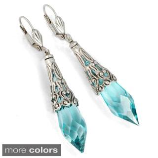 Sweet Romance Crystal Prism Point Earrings