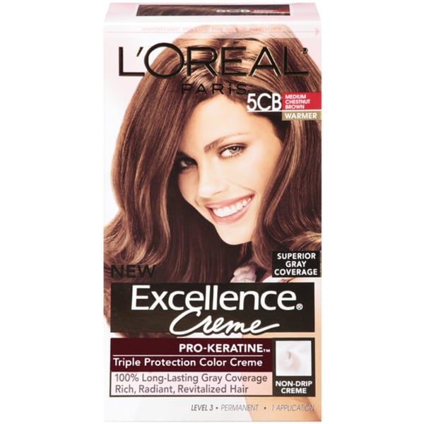 L'Oreal Excellence Creme Medium Chestnut Brown 5CB Hair Color