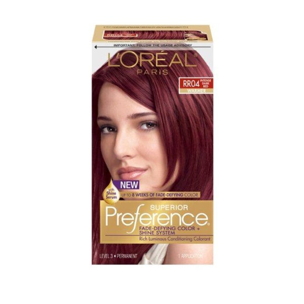 L Oreal Superior Preference Intense Dark Red Rr04 Hair