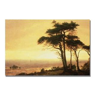 Albert Bierstadt 'California Coast' Canvas Art