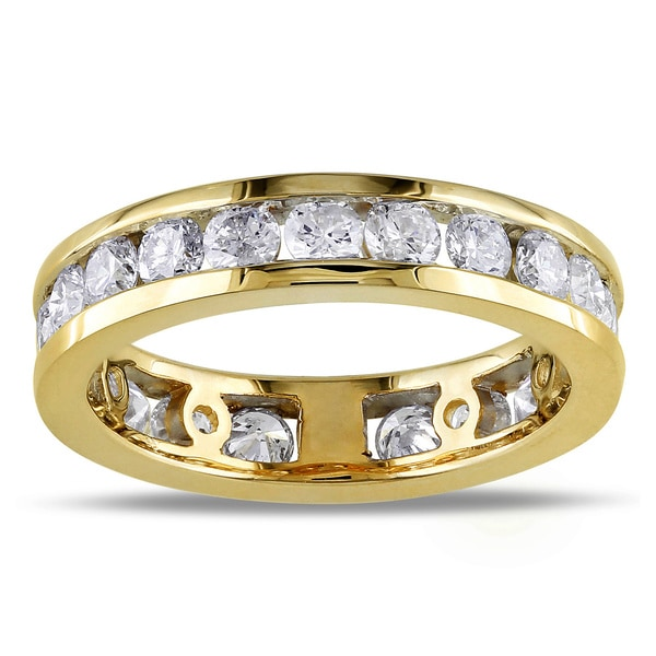 Miadora Signature Collection 14k Gold 2ct TDW Diamond Eternity Ring