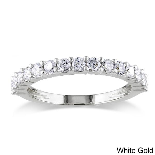 Miadora 14k Gold 3/4ct TDW Diamond Eternity Wedding Band (G-H, I1-I2)