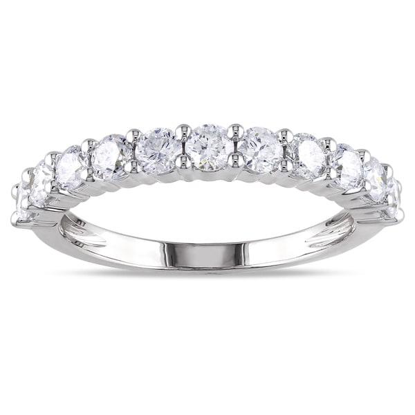 Miadora Signature Collection 14k Gold 1ct TDW Diamond Eternity Wedding Band