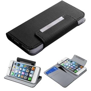 BasAcc Black Ball Texture MyJacket Wallet For Apple iPhone 5