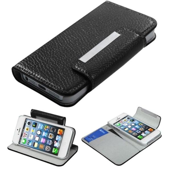 INSTEN Black Book-Style Premium Wallet for Apple iPhone 5