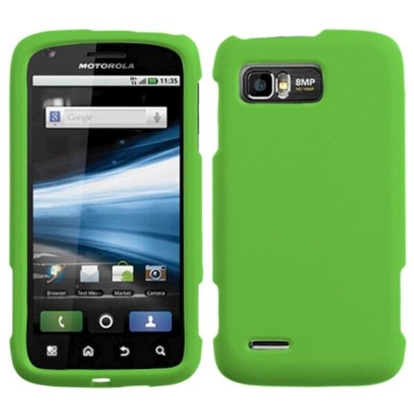 BasAcc Dark Green Rubberized Case for Motorola MB865 Atrix 2