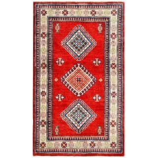 Herat Oriental Afghan Hand-knotted Kazak Wool Rug (2'11 x 4'11)
