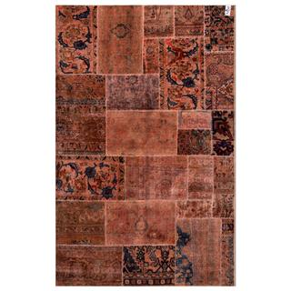 Herat Oriental Pak Persian Hand-knotted Patchwork Wool Rug (5'1 x 7'10)