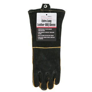 Mr. Bar-B-Q Long Leather Barbecue Gloves