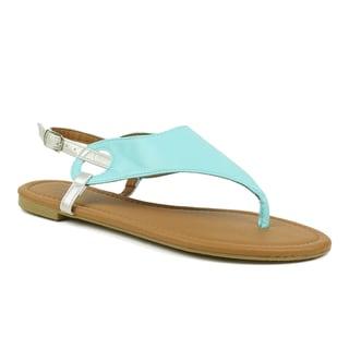 Mark & Maddux Women's 'Paul-02' Teal Classic Thong Sandals