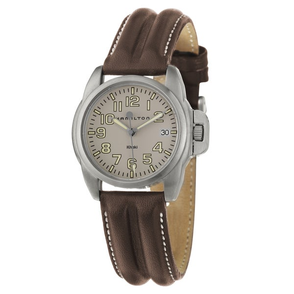 Hamilton Men's 'Khaki Action' Stainless-Steel Leather Swiss Quartz Watch