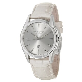 Hamilton Women's 'Jazzmaster' Silver-Dial Stainless-Steel Swiss Automatic Watch