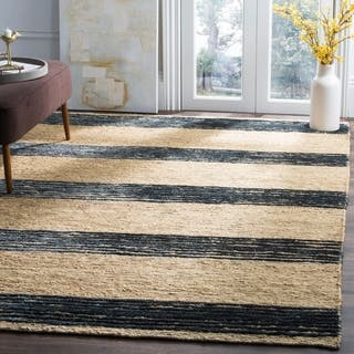 Safavieh Hand-knotted Bohemian Natural/ Blue Wool Rug (9' x 12')|https://ak1.ostkcdn.com/images/products/8049327/P15407593.jpg?impolicy=medium